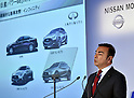 May 13, 2015, Yokohama, Japan - Nissan Motor CEO Carlos Ghosn speaks during a news conference at its head office in Yokohama, south of Tokyo, on Wedneday, May 13, 2015. Japans second largest automaker forecast net income of 485 billion yen in the current year ending March 31, 2016, from 457.6 billion yen a year earlier.  (Photo by Natsuki Sakai/AFLO)
