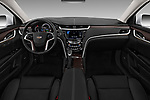 Stock photo of straight dashboard view of a 2018 Cadillac XTS Luxury 4 Door Sedan