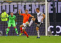 Lukas Klostermann (Deutschland Germany) gegen Daley Blind (Niederlande) - 06.09.2019: Deutschland vs. Niederlande, Volksparkstadion Hamburg, EM-Qualifikation DISCLAIMER: DFB regulations prohibit any use of photographs as image sequences and/or quasi-video.