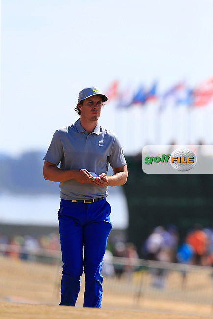 Jamie Lovemark (USA) walks onto the 10th tee during Saturday's Round 3 of the 2015 U.S. Open 115th National Championship held at Chambers Bay, Seattle, Washington, USA. 6/21/2015.<br /> Picture: Golffile | Eoin Clarke<br /> <br /> <br /> <br /> <br /> All photo usage must carry mandatory copyright credit (&copy; Golffile | Eoin Clarke)