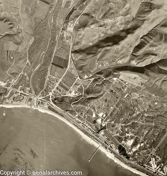 historical aerial photograph Capistrano Beach, Orange County, California, 1946