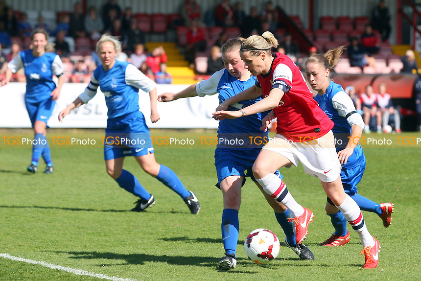 Kelly Smith of Arsenal Ladies - Arsenal Ladies vs Gillingham Ladies, FA Womens Cup at Meadow Park - 13/04/14 - MANDATORY CREDIT: Dave Simpson/TGSPHOTO - Self billing applies where appropriate - 0845 094 6026 - contact@tgsphoto.co.uk - NO UNPAID USE