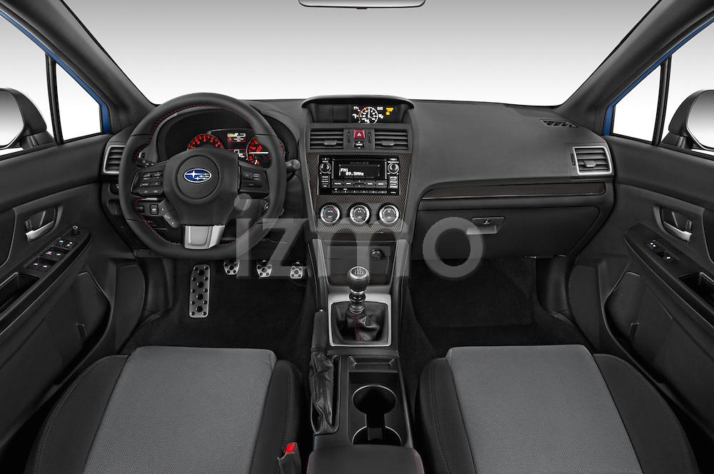 Stock photo of straight dashboard view of a 2015 Subaru Wrx - 4 Door Sedan 2WD Dashboard