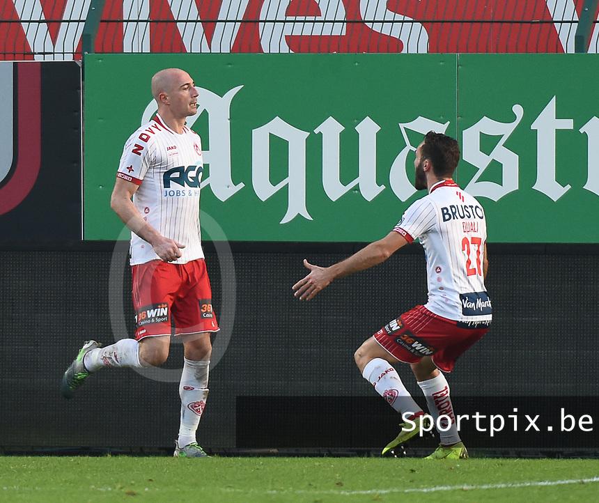 KVK KORTRIJK - SV ZULTE WAREGEM :<br /> Christophe Lepoint (L) scoorde zonet de gelijkmaker<br /> <br /> Foto VDB / Bart Vandenbroucke
