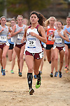 November 1, 2014; Sunnyvale, CA, USA; Loyola Marymount Lions runner Lorena L. Garcia (29) competes during the WCC Cross Country Championships at Baylands Park.