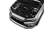 Car stock 2019 Mitsubishi ASX Invite Style 5 Door SUV engine high angle detail view