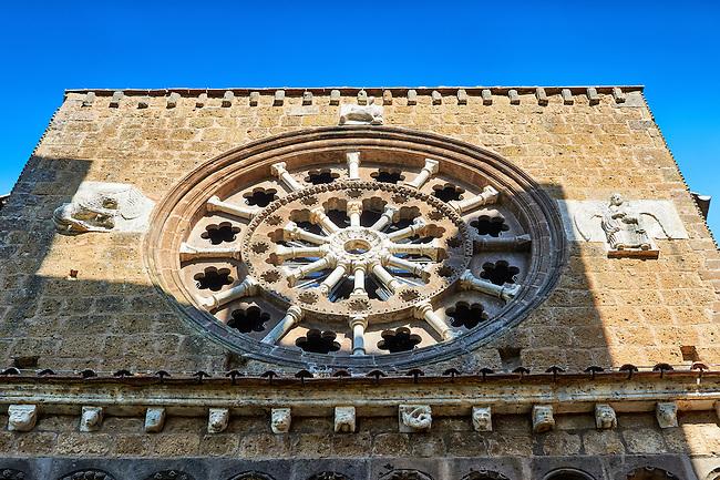 Rose Window, 1206, on the Facade of the Romanesque Basilica Church of Santa Maria Maggiore, Tuscania