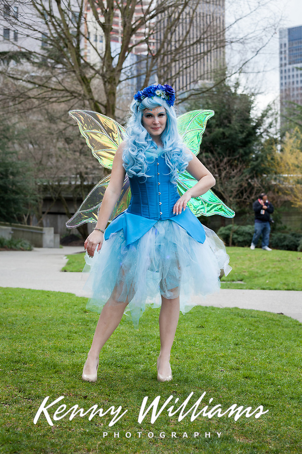 Beautiful Tinkerbell Girl, Emerald City Comicon 2016, Seattle, WA, USA.