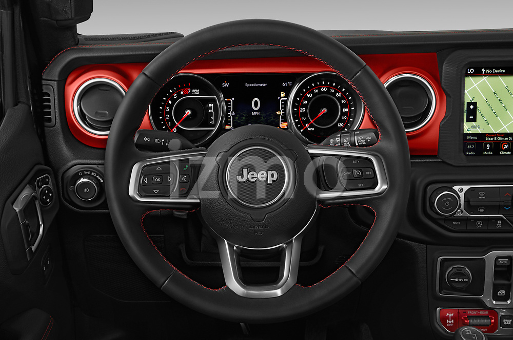 Car pictures of steering wheel view of a 2020 JEEP Wrangler Rubicon 5 Door SUV Steering Wheel