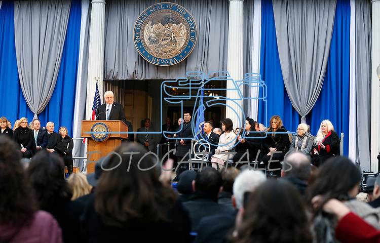 Nevada Gov. Steve Sisolak at his inauguration at the Capitol, in Carson City, Nev., on Monday, Jan. 7, 2019. <br /> Photo by Cathleen Allison/Nevada Momentum