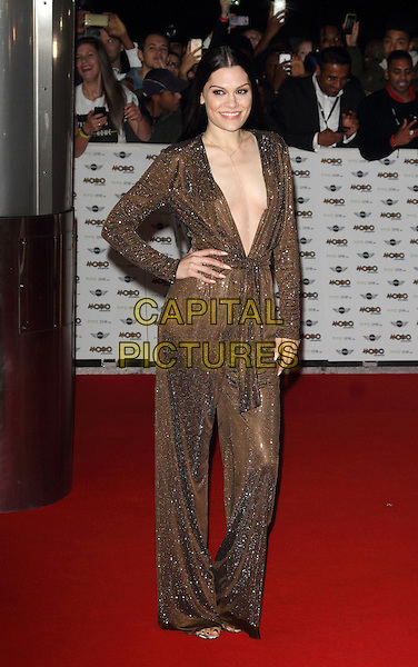 LONDON, ENGLAND - OCTOBER 22: Jessie J attends the MOBO Awards at SSE Arena on October 22, 2014 in London, England. <br /> CAP/ROS<br /> &copy;Steve Ross/Capital Pictures
