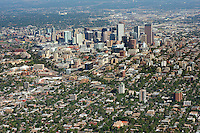 Downtown Denver skyline aerial looking northwest.  Sept 2, 2013. 82402