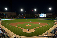 The Indianapolis Indians play host to the Columbus Clippers during an International League game on April 29, 2019 at Victory Field in Indianapolis, Indiana. Indianapolis defeated Columbus 5-3. (Zachary Lucy/Four Seam Images)