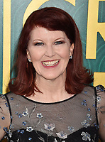 HOLLYWOOD, CA - AUGUST 07: Kate Flannery arrives at the Warner Bros. Pictures' 'Crazy Rich Asians' premiere at the TCL Chinese Theatre IMAX on August 7, 2018 in Hollywood, California.<br /> CAP/ROT/TM<br /> &copy;TM/ROT/Capital Pictures