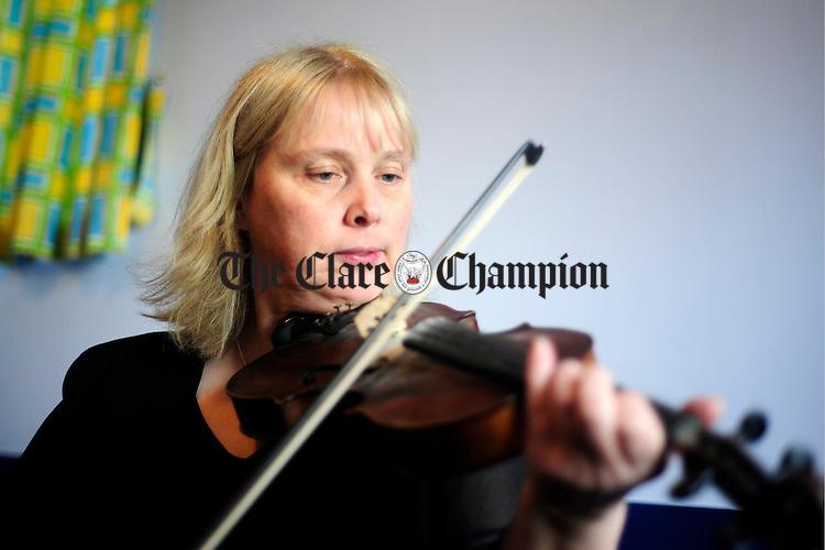 Musician Paula McMahon, O'Callaghans Mills.Pic Arthur Ellis.