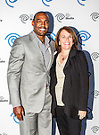 Darren Woodson and Carole Hart at the Time Warner Media Cabletime Upfront media event held at the Private Social Restaurant  in Dallas, Texas.