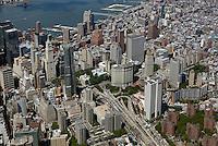 aerial photograph City Hall and Municipal Building, Civic Center, Manhattan, New York City