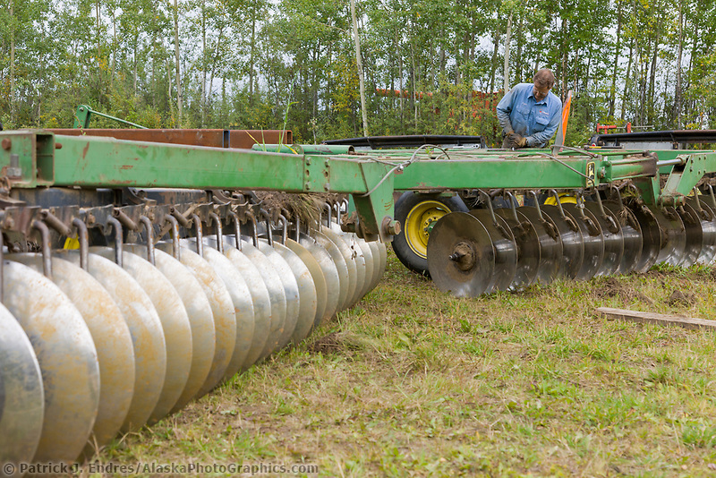 Bryce Wrigley, Barley farmer in Delta Junction, Alaska.