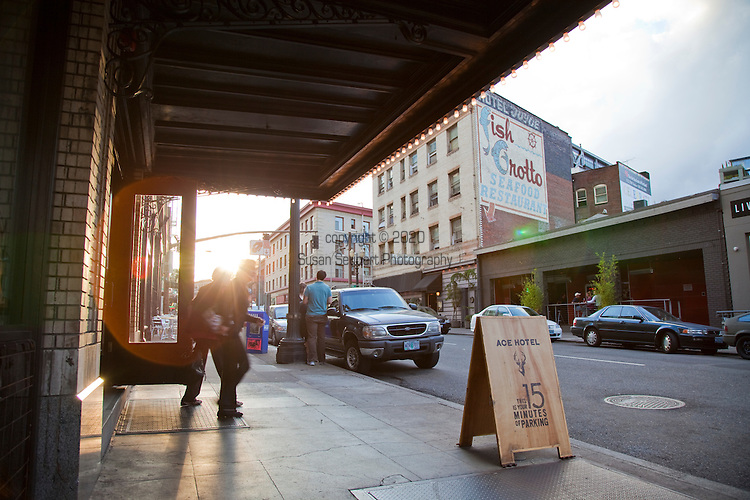 The Ace Hotel, a budget, hip boutique hotel located in downtown Portland, OR