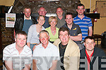GAA: Attending the fundraising night for the Finuge GAA Club in McCarthys Bar (The Anglers Rest), Finuge, on Friday night. Pictured were front l-r: Paul Breen, Denny OSullivan, Tosh Beasley and Darren Laide. Middle row l-r: Nollaig McCarthy, Liz Thornton and Billy Buckley. Back row: Sean Corridon, Peter McCarthy, James McCarthy and Sean Fitzgerald..