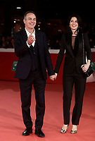 L'ex calciatore italiano Antonio Cabrini posa con sua moglie sul red carpet di apertura della 12° edizione della Festa del Cinema di Roma, 26 ottobre 2017.<br /> Former football player Antonio Cabrini poses with his wife  on the 12th Rome Film Festival opening red carpet in Rome, October 26, 2017.<br /> UPDATE IMAGES PRESS/Isabella Bonotto