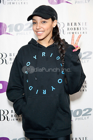 BALA CYNWYD, PA - MARCH 15:  Tinashe visits Q102 Performance Studio in Bala Cynwyd, Pa on March 15, 2016  photo credit Star Shooter / MediaPunch