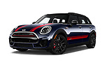 Stock pictures of low aggressive front three quarter view of a 2018 Mini Clubman John Cooper Works 5 Door Wagon