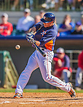 7 March 2013: Houston Astros outfielder Rick Ankiel hits an RBI single during a Spring Training game against the Washington Nationals at Osceola County Stadium in Kissimmee, Florida. The Astros defeated the Nationals 4-2 in Grapefruit League play. Mandatory Credit: Ed Wolfstein Photo *** RAW (NEF) Image File Available ***