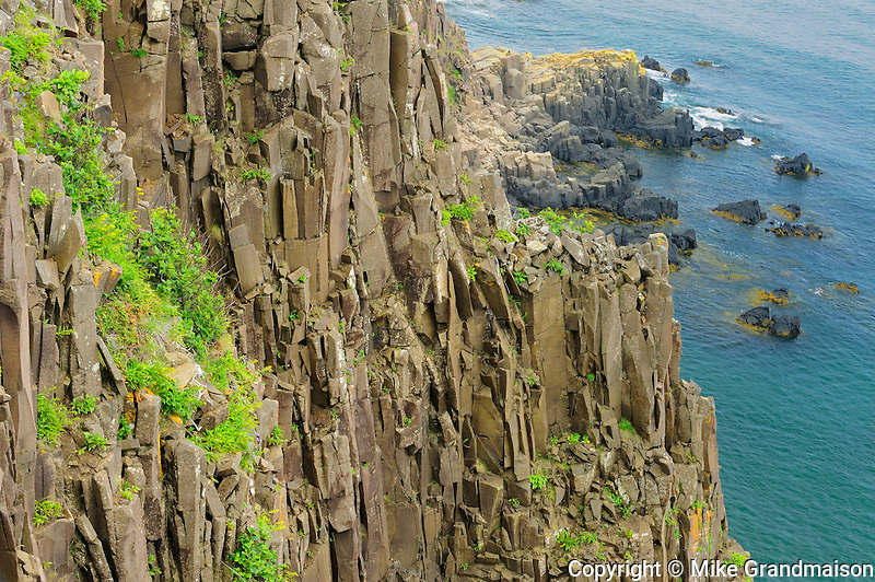 Basalt cliffs<br /> Grand Manan Island<br /> New Brunswick<br /> Canada
