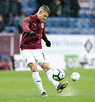 Burnley's Johann Gudmundsson during the pre-match warm-up <br /> <br /> Photographer Rich Linley/CameraSport<br /> <br /> The Premier League - Burnley v Leicester City - Saturday 16th March 2019 - Turf Moor - Burnley<br /> <br /> World Copyright © 2019 CameraSport. All rights reserved. 43 Linden Ave. Countesthorpe. Leicester. England. LE8 5PG - Tel: +44 (0) 116 277 4147 - admin@camerasport.com - www.camerasport.com