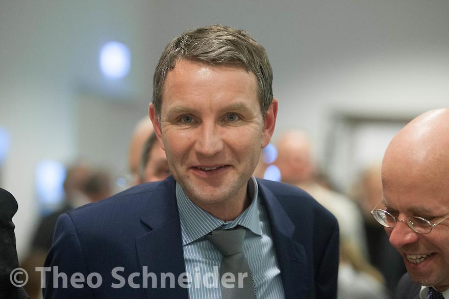 Neujahrsempfang der AfD-Fraktion vor im Brandenburger Landtag in Potsdam. // Der umstrittene Thüringer AfD-Politker Björn Höcke war Gast beim AfD-Neujahrsempfang.