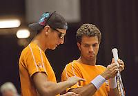 09-09-13,Netherlands, Groningen,  Martini Plaza, Tennis, DavisCup Netherlands-Austria, DavisCup,   Thiemo de Bakker (L) and Jean-Julien Rojer<br /> Photo: Henk Koster