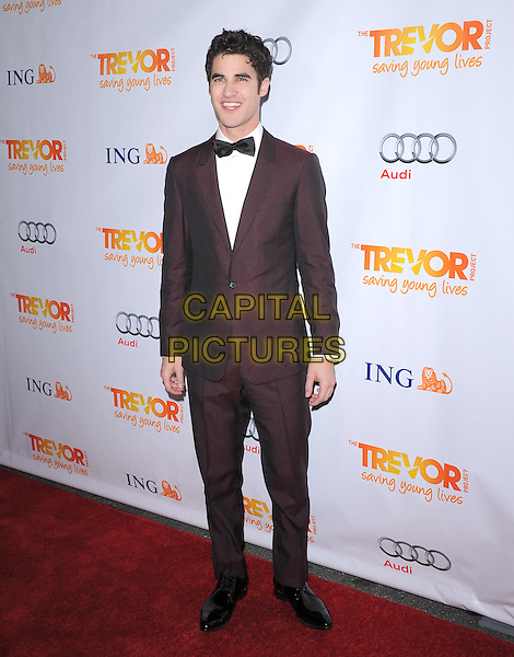 Darren Criss.Trevor Live at The Hollywood Palladium in Hollywood, California, USA..December 4th, 2011  .full length brown maroon suit  bow tie tuxedo.CAP/RKE/DVS.©DVS/RockinExposures/Capital Pictures.