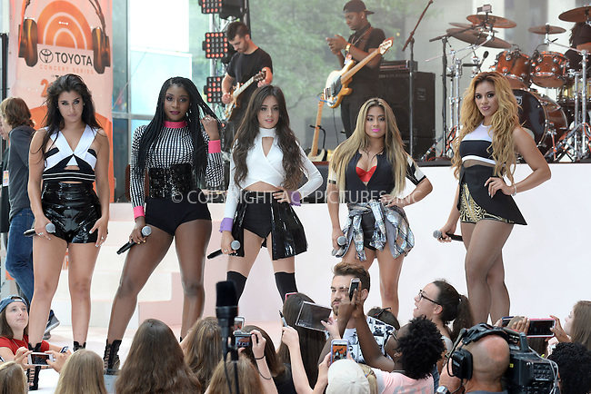 WWW.ACEPIXS.COM<br /> July 10, 2015 New York City<br /> <br /> Lauren Jauregui, Normani Hamilton, Camila Cabello, Ally Brooke and Dinah Hansen of Fifth Harmony performing in Concert on NBC's 'Today' at Rockefeller Plaza on July 10, 2015 in New York City.<br /> <br /> Credit: Kristin Callahan/ACE Pictures<br /> Tel: (646) 769 0430<br /> e-mail: info@acepixs.com<br /> web: http://www.acepixs.com