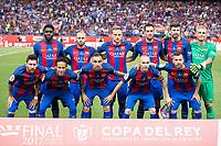 FC Barcelona during Copa del Rey (King's Cup) Final between Deportivo Alaves and FC Barcelona at Vicente Calderon Stadium in Madrid, May 27, 2017. Spain.<br /> (ALTERPHOTOS/BorjaB.Hojas) /NortePhoto.com