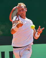 Austria, Kitzbühel, Juli 17, 2015, Tennis, Davis Cup, First round match between Dominic Thiem (AUT) vs Thiemo de Bakker (NED)  pictured: Thiemo de Bakker<br /> Photo: Tennisimages/Henk Koster