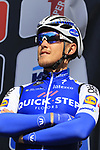 Matteo Trentin (ITA) Quick-Step Floors team on stage at sign on for Gent-Wevelgem in Flanders Fields 2017, running 249km from Denieze to Wevelgem, Flanders, Belgium. 26th March 2017.<br /> Picture: Eoin Clarke | Cyclefile<br /> <br /> <br /> All photos usage must carry mandatory copyright credit (&copy; Cyclefile | Eoin Clarke)