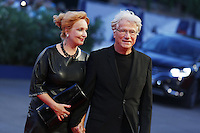 Jurgen Prochnow and Verena Wrengler attend the red carpet for the premiere of the movie 'Remember' during the 72nd Venice Film Festival at the Palazzo Del Cinema in Venice, Italy, September 10, 2015.<br /> UPDATE IMAGES PRESS/Stephen Richie