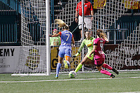 Rochester, NY - Saturday Aug. 27, 2016: Kealia Ohai, Sabrina D'Angelo, Elizabeth Eddy during a regular season National Women's Soccer League (NWSL) match between the Western New York Flash and the Houston Dash at Rochester Rhinos Stadium.