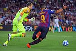 UEFA Champions League 2018/2019 - Matchday 1.<br /> FC Barcelona vs PSV Eindhoven: 4-0.<br /> Jeroen Zoet vs Luis Suarez.