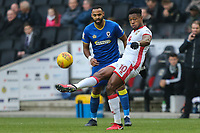 Chuks Aneke of MK Dons during the Sky Bet League 1 match between MK Dons and AFC Wimbledon at stadium:mk, Milton Keynes, England on 13 January 2018. Photo by David Horn.