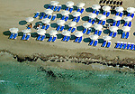 Views of the Beaches on the Island of Ibiza, Spain Aerial views of artistic patterns in the earth.