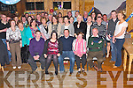 Donal Falvey, Milltown, pictured with his wife Mairead, family and friends as he celebrated his 30th birthday in Kate Kearneys Cottage, Beaufort, on Saturday night....... ..........................