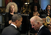 Singer-songwriter Carole King speaks after being awarded the 2013 Library of Congress Gershwin Prize for Popular Song by U.S. President Barack Obama (not pictured) at the White House in Washington, DC on May 22, 2013..Credit: Yuri Gripas / Pool via CNP