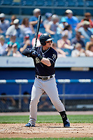 Scranton/Wilkes-Barre RailRiders first baseman Tyler Austin (26) at bat during a game against the Syracuse Chiefs on June 17, 2018 at NBT Bank Stadium in Syracuse, New York.  Syracuse defeated Scranton/Wilkes-Barre 4-2.  (Mike Janes/Four Seam Images)