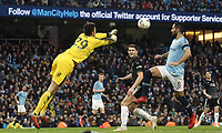Burnley's Nick Pope punch clear under pressure from Manchester City's Ilkay Gundogan<br /> <br /> Photographer Rich Linley/CameraSport<br /> <br /> Emirates FA Cup Fourth Round - Manchester City v Burnley - Saturday 26th January 2019 - The Etihad - Manchester<br />  <br /> World Copyright © 2019 CameraSport. All rights reserved. 43 Linden Ave. Countesthorpe. Leicester. England. LE8 5PG - Tel: +44 (0) 116 277 4147 - admin@camerasport.com - www.camerasport.com