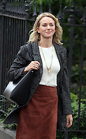 NEW YORK, NY - SEPTEMBER 28: Naomi Watts on the set of the TV series Gypsy in New York City on September 28, 2016. Credit: RW/MediaPunch
