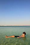 Israel, Noam Isachar at the Dead Sea