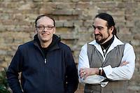 Thorsten Wirth, Bundesvorsitzender der Piratenpartei und Bj&ouml;rn Niklas Semrau, politischer Gesch&auml;ftsf&uuml;hrer der Piratenpartei aufgenommen am Freitag (13.12.13) in Berlin.<br /> Foto: Axel Schmidt/CommonLens