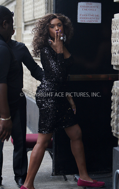 WWW.ACEPIXS.COM....August 22, 2012, New York City, NY.......Actress Jennifer Hudson on the set of the show 'Smash' on August 22, 2012 in New York City.........By Line: Zelig Shaul/ACE Pictures....ACE Pictures, Inc..Tel: 646 769 0430..Email: info@acepixs.com